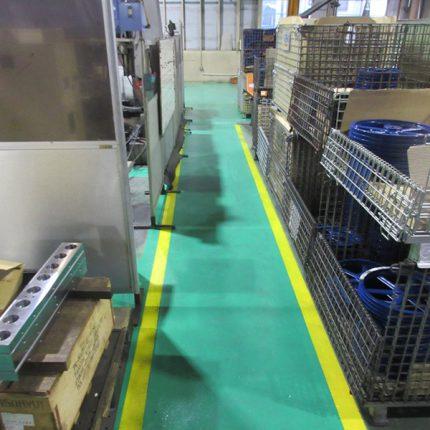 メカトロ加工 床塗装工事