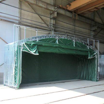 屋内養生テント工事