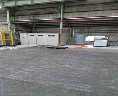 コンプレッサー設置・機械配管工事